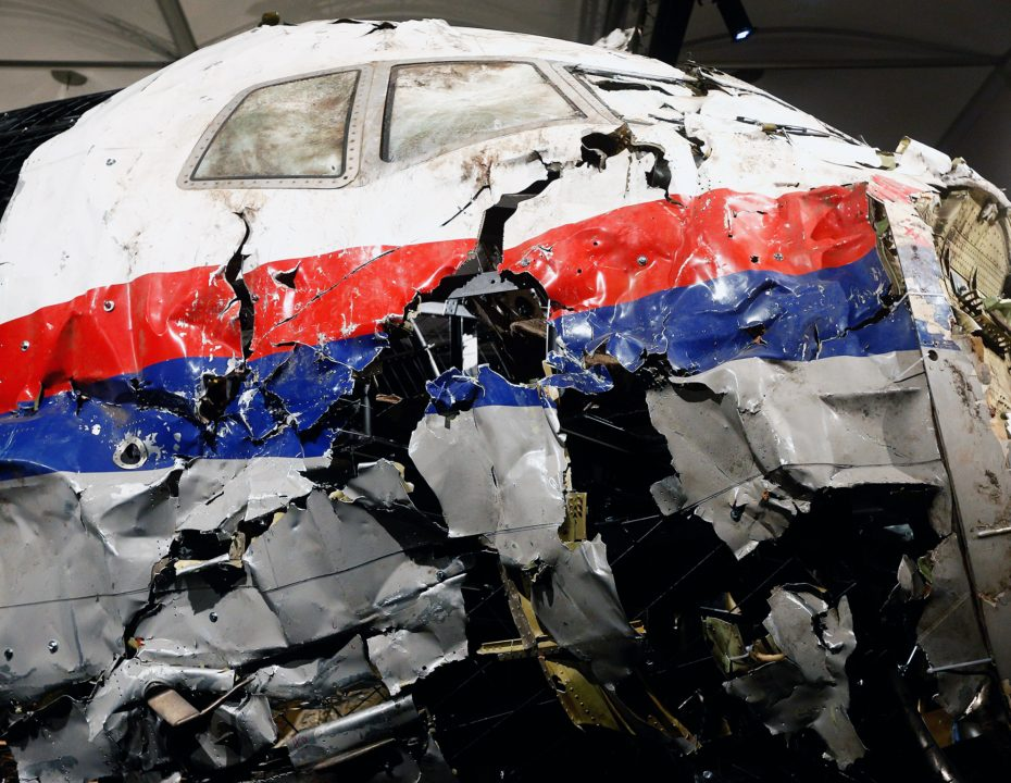 GILZE-RIJEN, NETHERLANDS - OCTOBER 13:  A general view of the cockpit wreckage at the Gilze-Rijen Military Base on October 13, 2015 in Gilze-Rijen, Netherlands. The reports focus on four subjects: the cause of the crash, the issue of flying over conflict areas, the question why Dutch surviving relatives of the victims had to wait two to four days before receiving confirmation from the Dutch authorities that their loved ones were on board flight MH17, and lastly the question to what extent the occupants of flight MH17 were consciously of the crash.  (Photo by Dean Mouhtaropoulos/Getty Images)